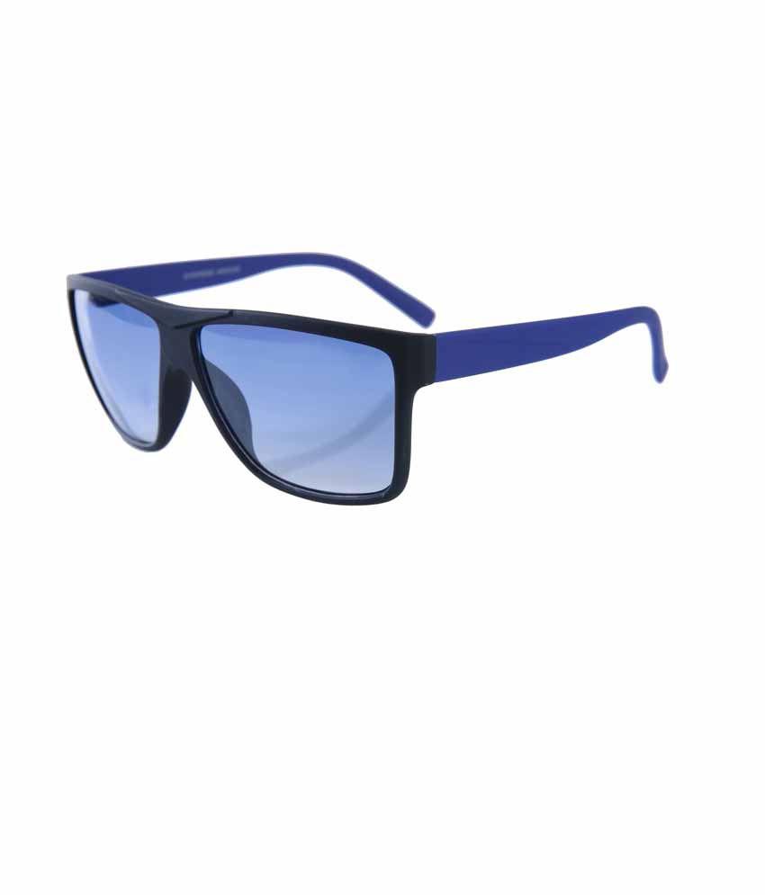 Elijaah Blue 413062 Unisex Wayfarer Sunglass