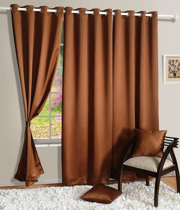 HOMEC Set of 2 Door Blackout Eyelet Curtains