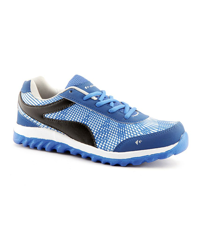 Elligator Blue Synthetic Leather Running Sport Shoes