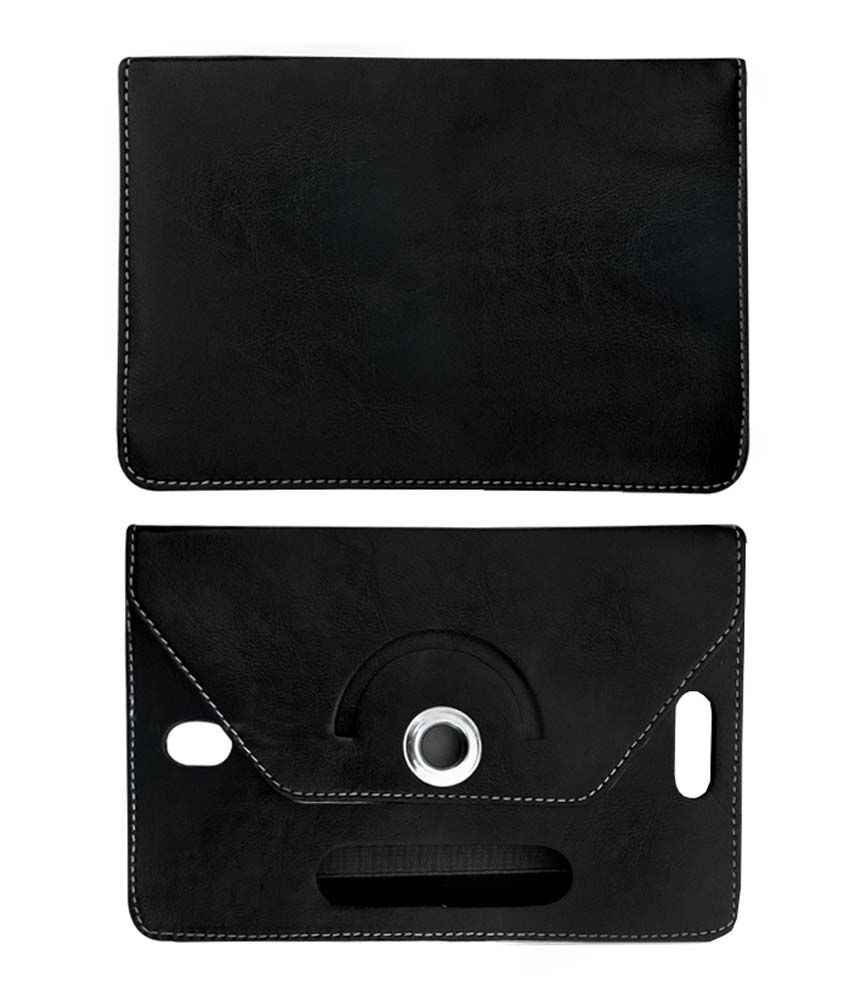 Fastway 8 Inch Rotate Tablet Book Cover For Micromax Canves Tab P666-Black