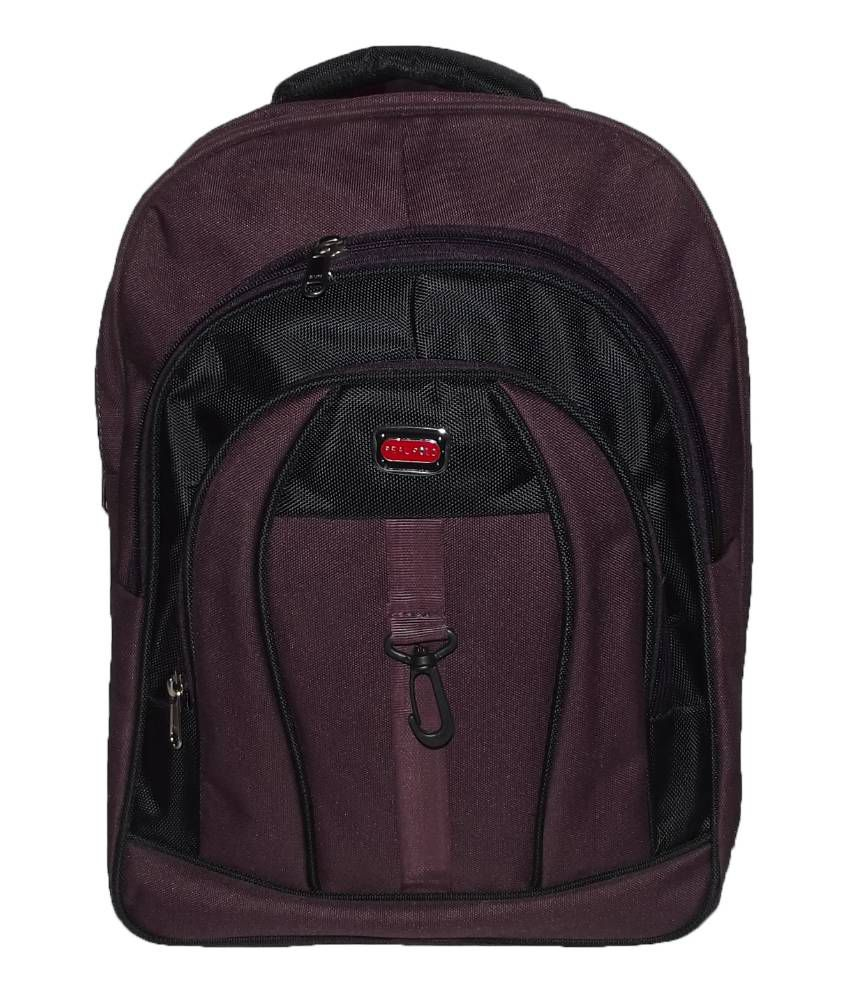Real Polo Office   College Bag with Laptop Pocket - Purple   Black - Buy  Real Polo Office   College Bag with Laptop Pocket - Purple   Black Online  at Low ... 501a5bc715