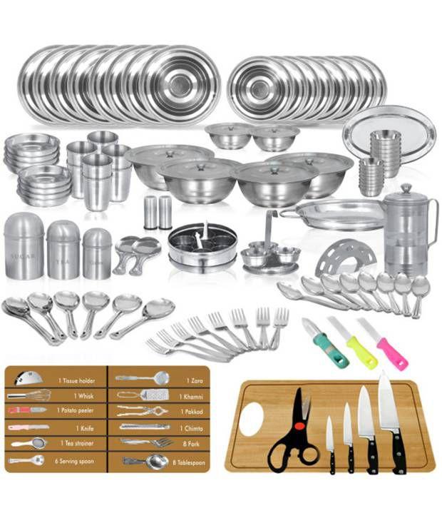 Sagene 111 Pcs Stainless Steel Dinner Set Kitchen Set Light Weight
