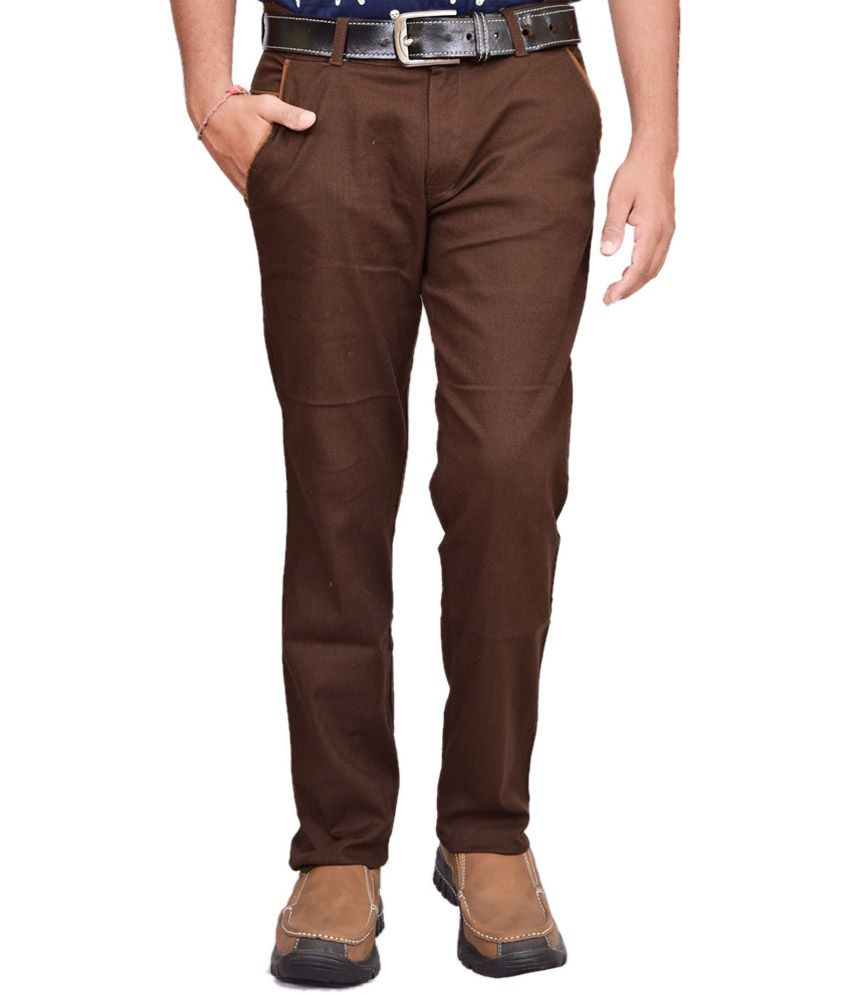 British Terminal Brown Linen Casual Chinos
