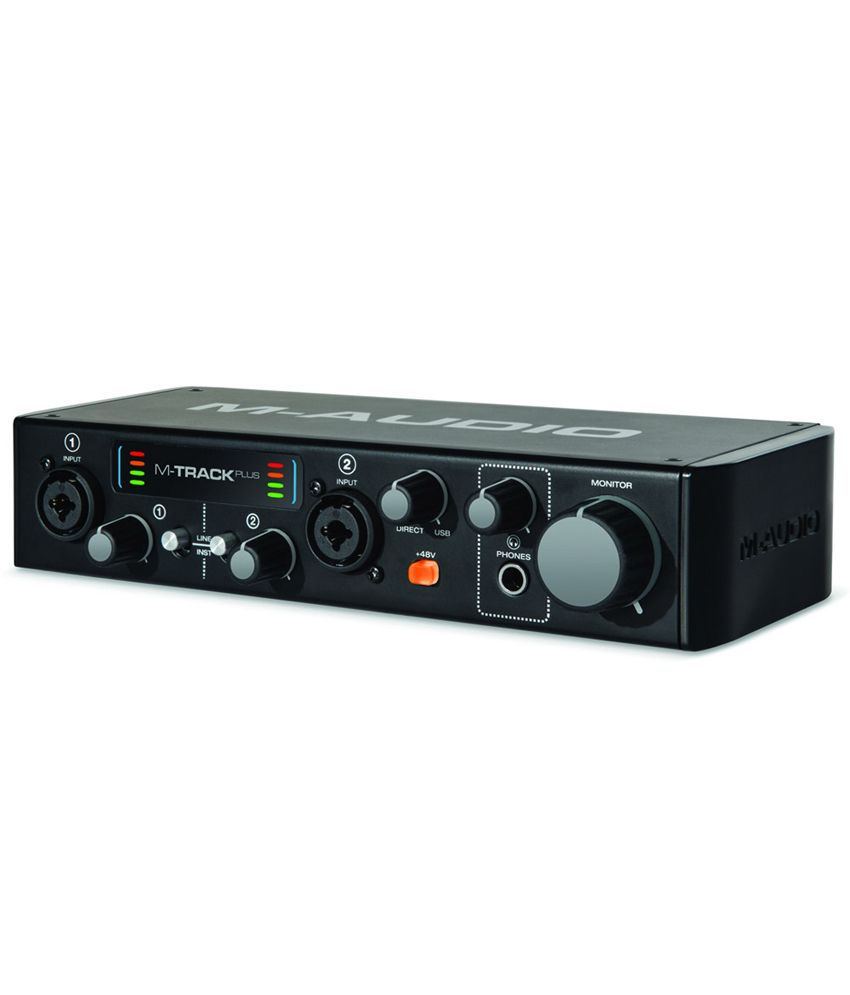 m audio m track plus mkii two channel usb 2 0 audio interface with 24 bit 96 khz resolution buy. Black Bedroom Furniture Sets. Home Design Ideas
