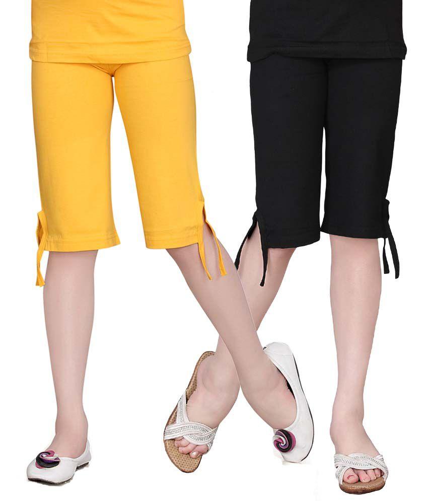 Sinimini Girls Colourful Capri 2Pcs Combo