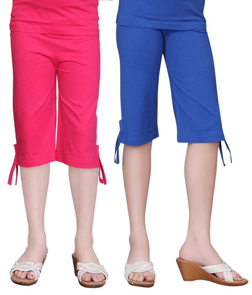 Sinimini Girls Colourful Capri 2Pcs Combo