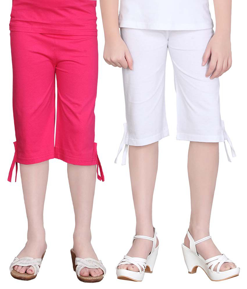 Sini Mini Girls Colourful Capri 2Pcs Combo