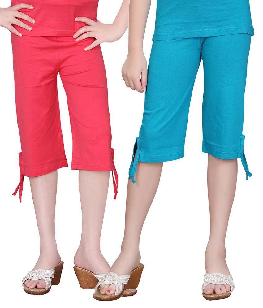 Sini Mini Girls Colourful Capri 2Pcs Combo