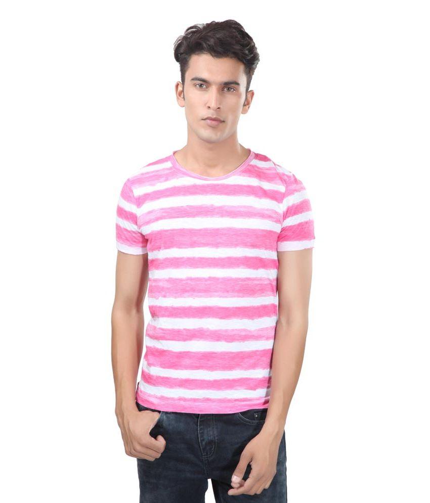 Uni Style Image Pink Cotton T-Shirt