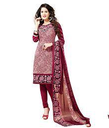 Varsha Multicoloured Chiffon Unstitched Dress Material