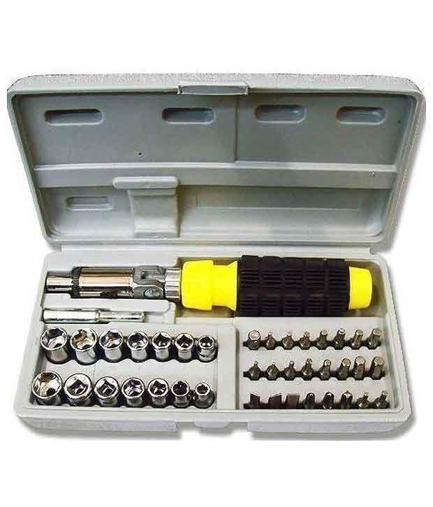 Cheston-Ch-tk41in1-Black-Plastic-Ratchet-Screwdriver-Set