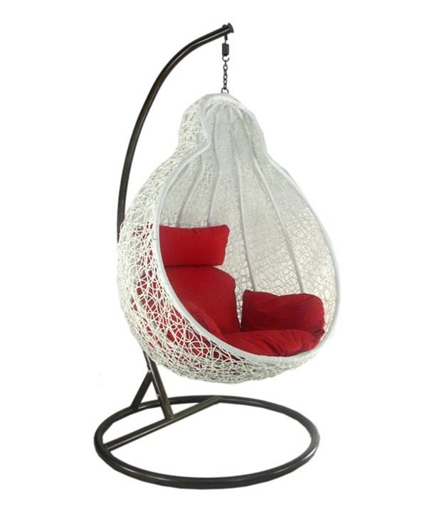 One Seater Hanging Swing Chair With Cushions Buy One