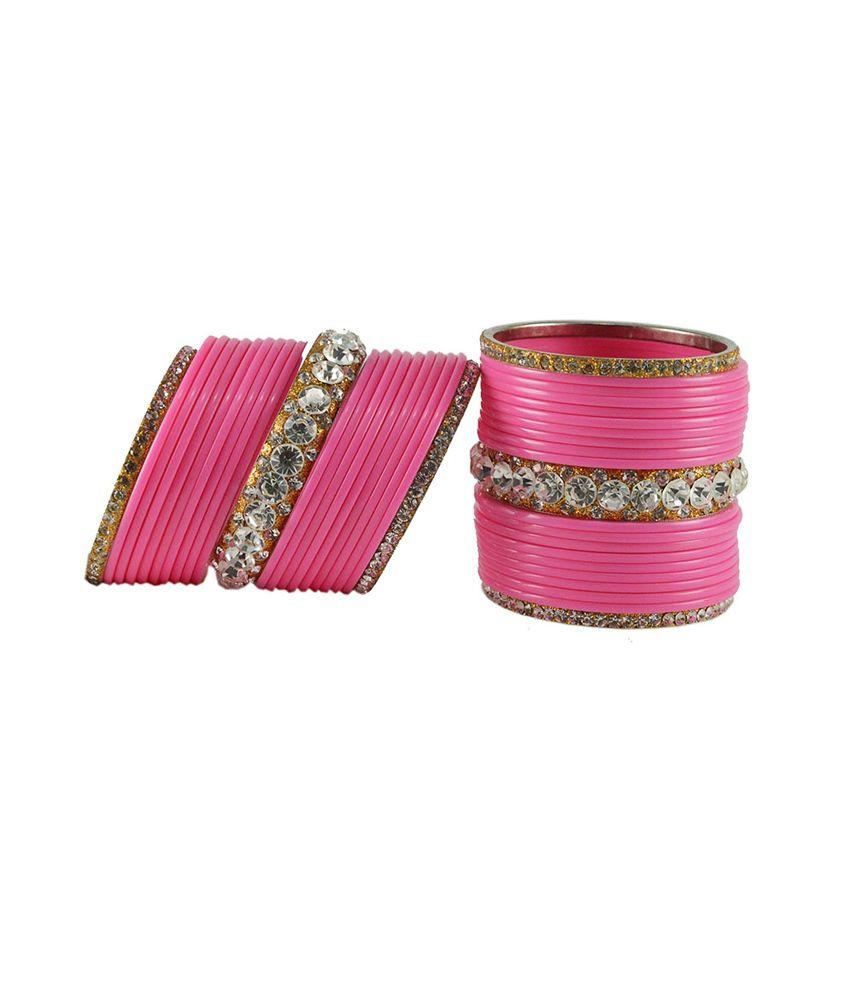 Vidhya Kangan Pink Brass & Copper Bangles