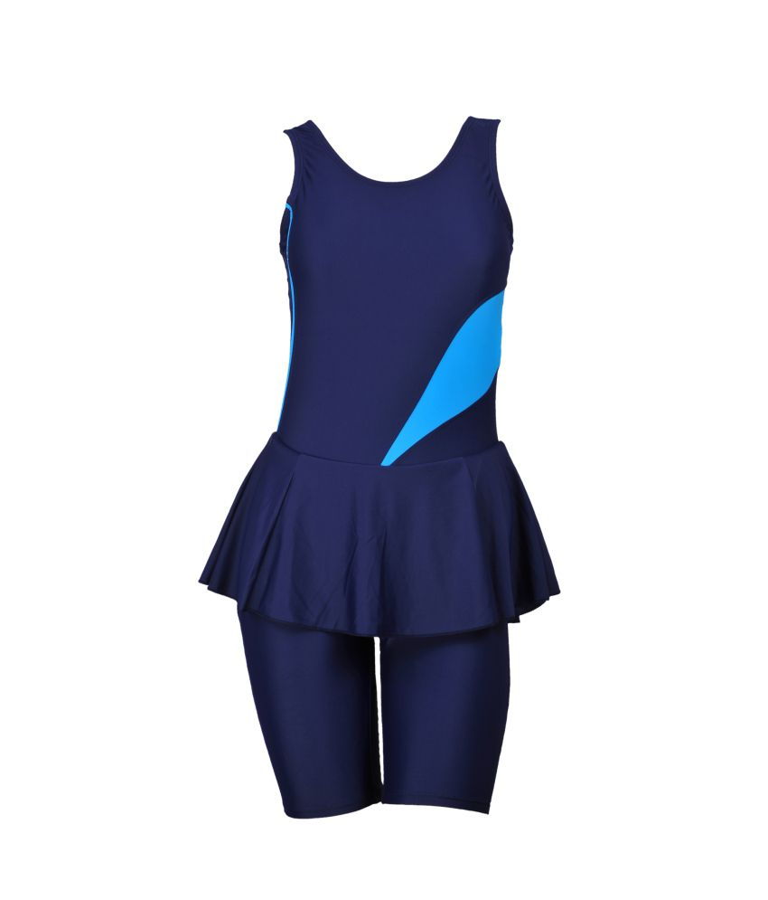 Champ Padded Swimwear Frock With Half Legsuit For Womens/ Swimming Costume