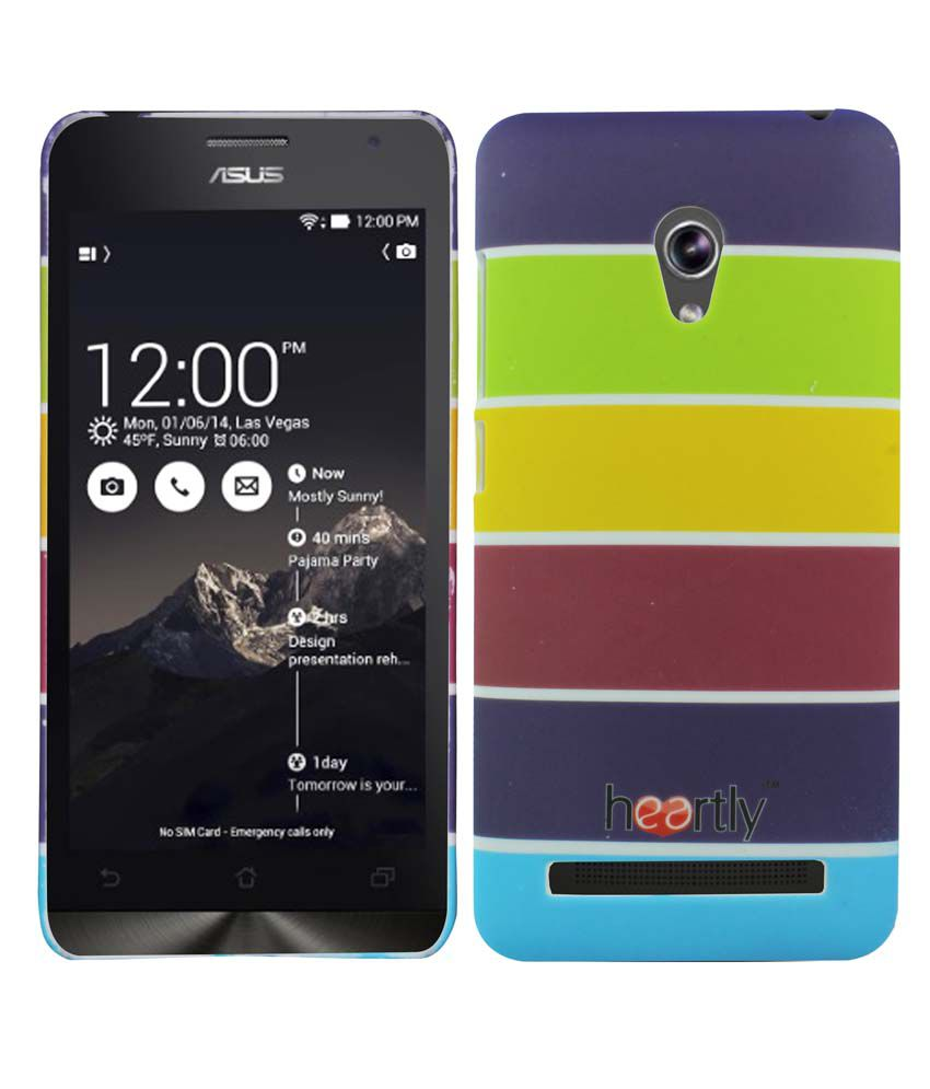 Heartly Hard Shell Back Cover Case For Asus Zenfone 5 - Yellow