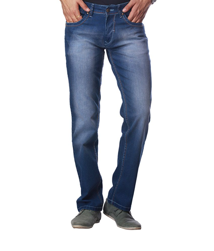 I Jeanswear by Shoppers Stop Blue Cotton Regular Fit Jeans