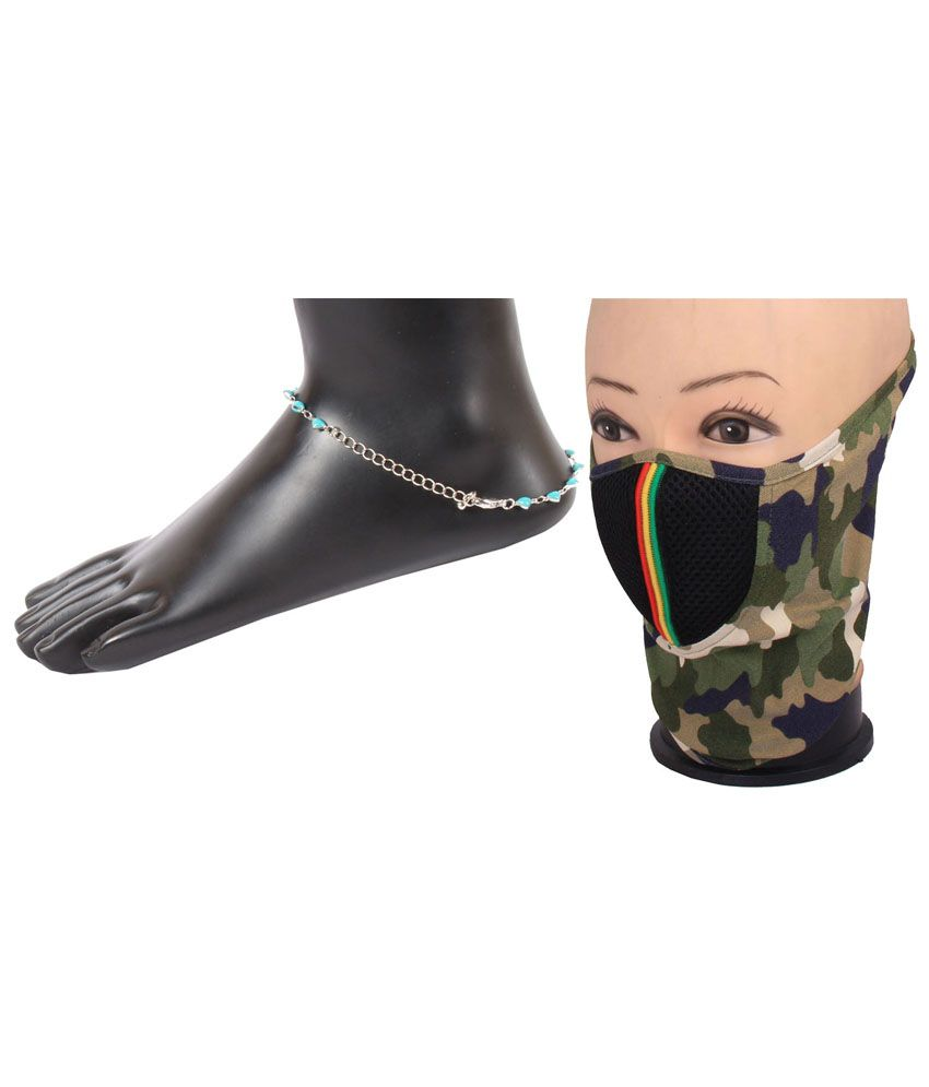 Jstarmart Silver Anklet And Face Mask