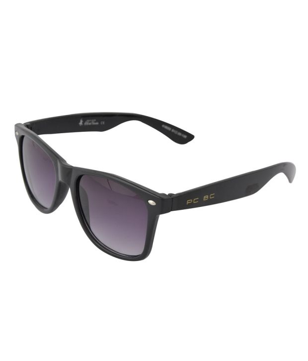 Polo Black Rectangle Men Sunglass