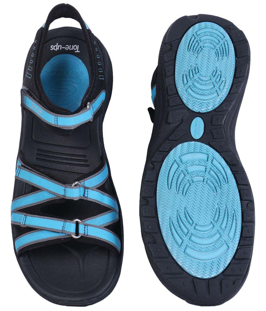 4cc55510b3cc Skechers Black Comfortable Tone-Ups Sandals Price in India- Buy ...