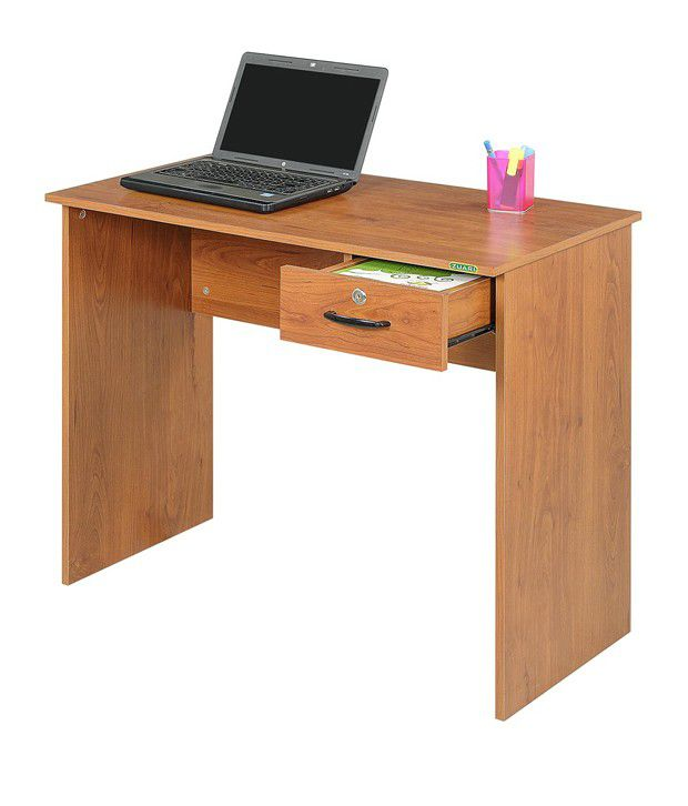 Zuari Study Table Single Drawer With Natural Finish