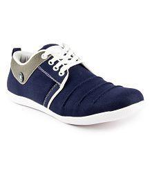 GS Blue Smart Casuals Shoes