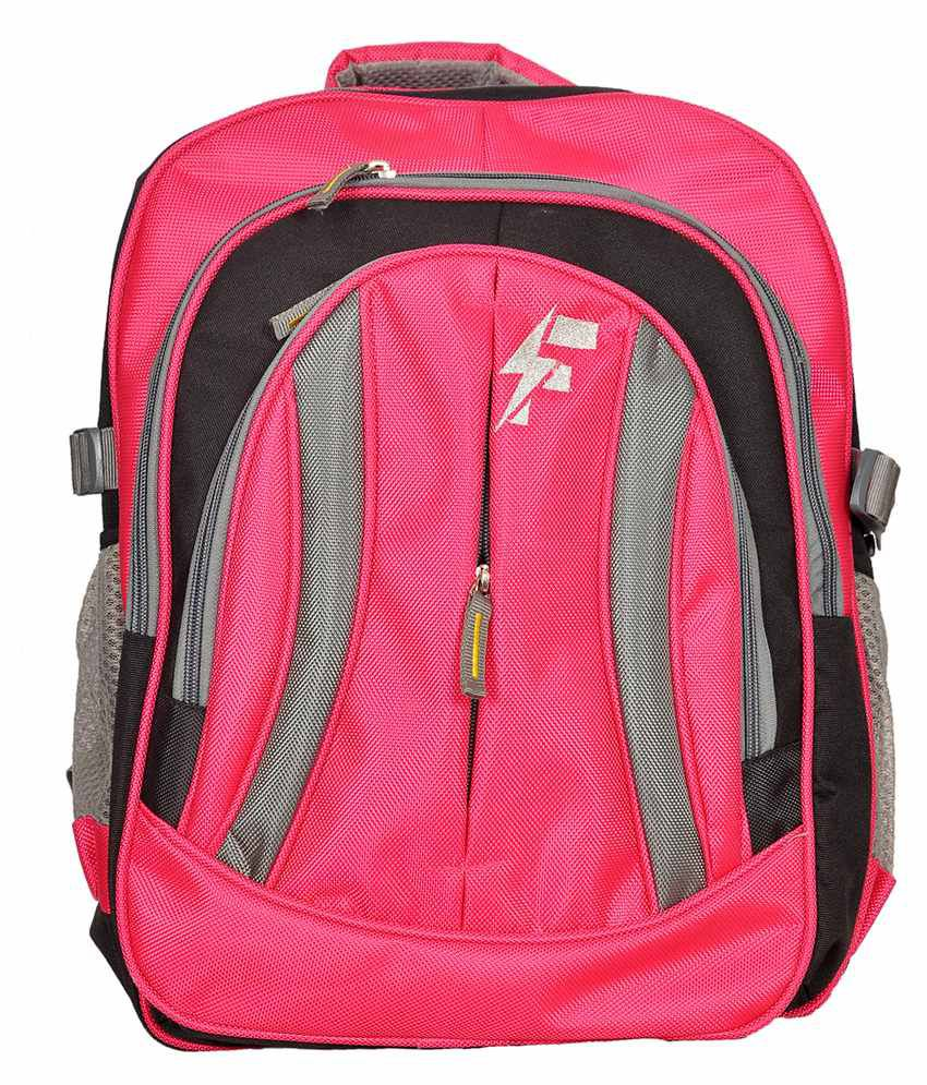 Flute Pink Polyester Laptop Backpack