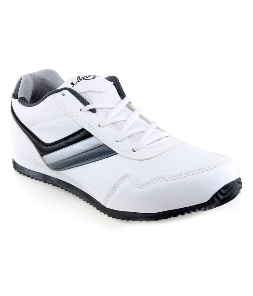 c109fadcde5 Lancer White   Grey Sports Shoes - Buy Lancer White   Grey Sports Shoes  Online at Best Prices in India on Snapdeal