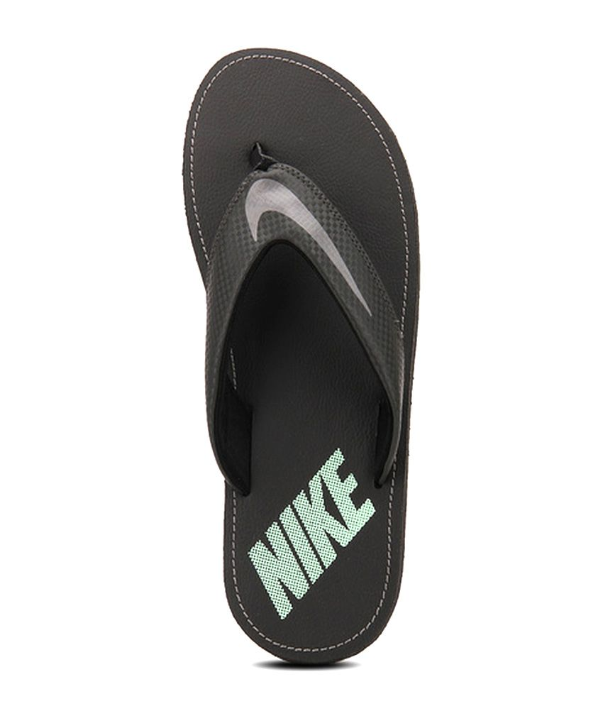 sale retailer fdbbc 12bd4 Nike Black Slippers