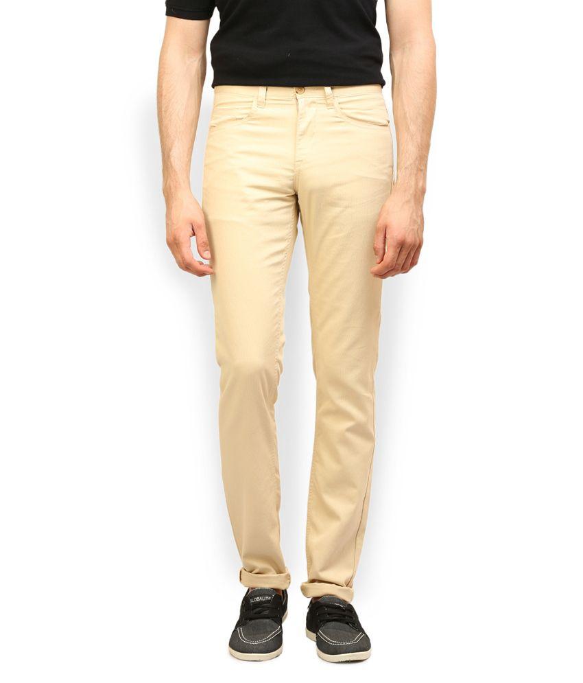 Roger Koors White Cotton Slim Fit Trouser