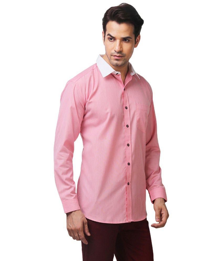 Yepme Drake Classy Pink Formal Shirt for Men - Buy Yepme Drake ...