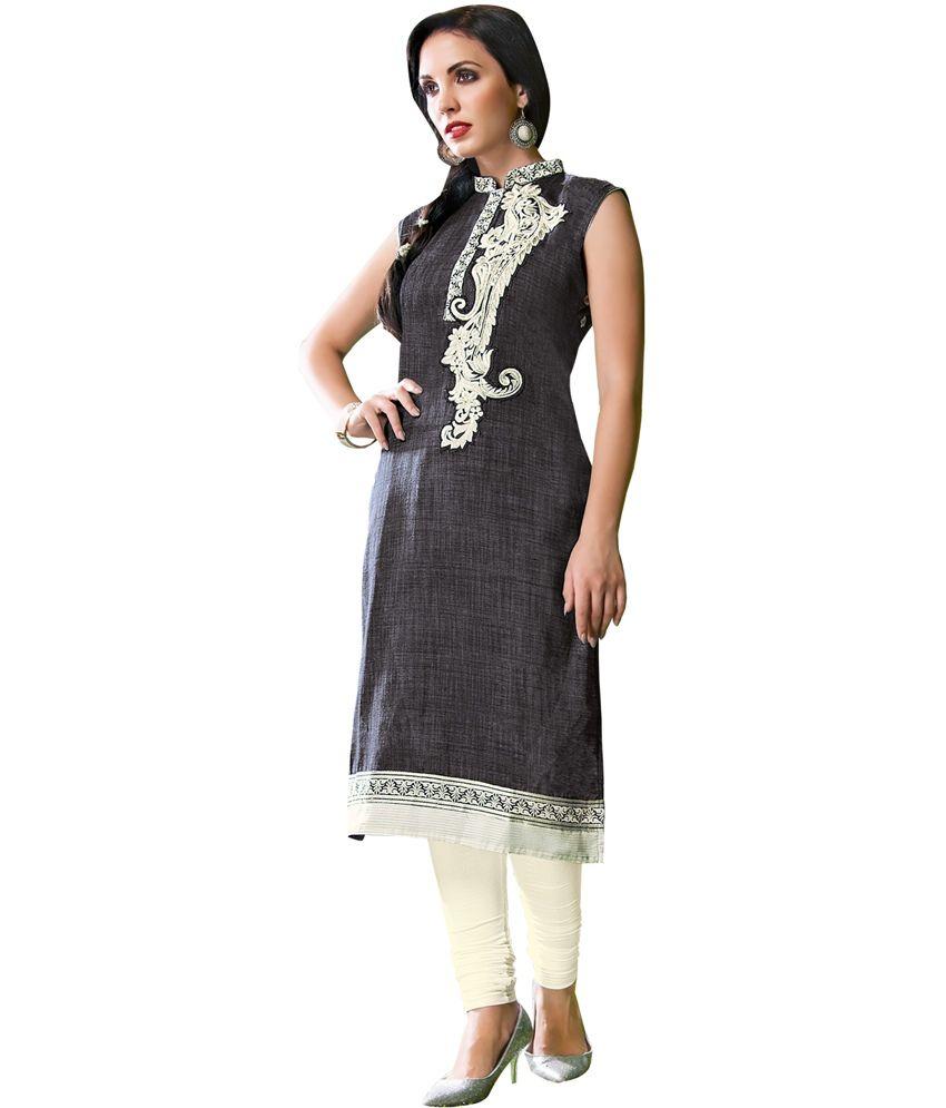 Aisha Black Cotton Kurti
