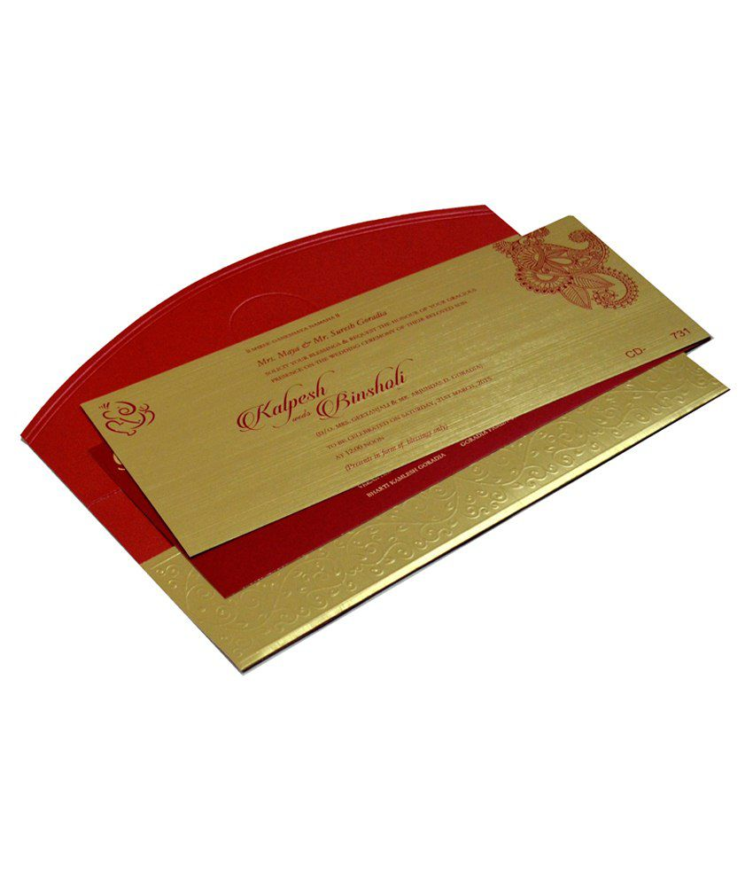 indian wedding invitation cards with price%0A     Indian Card Mall Multicolour Paper Wedding Card Pack Of