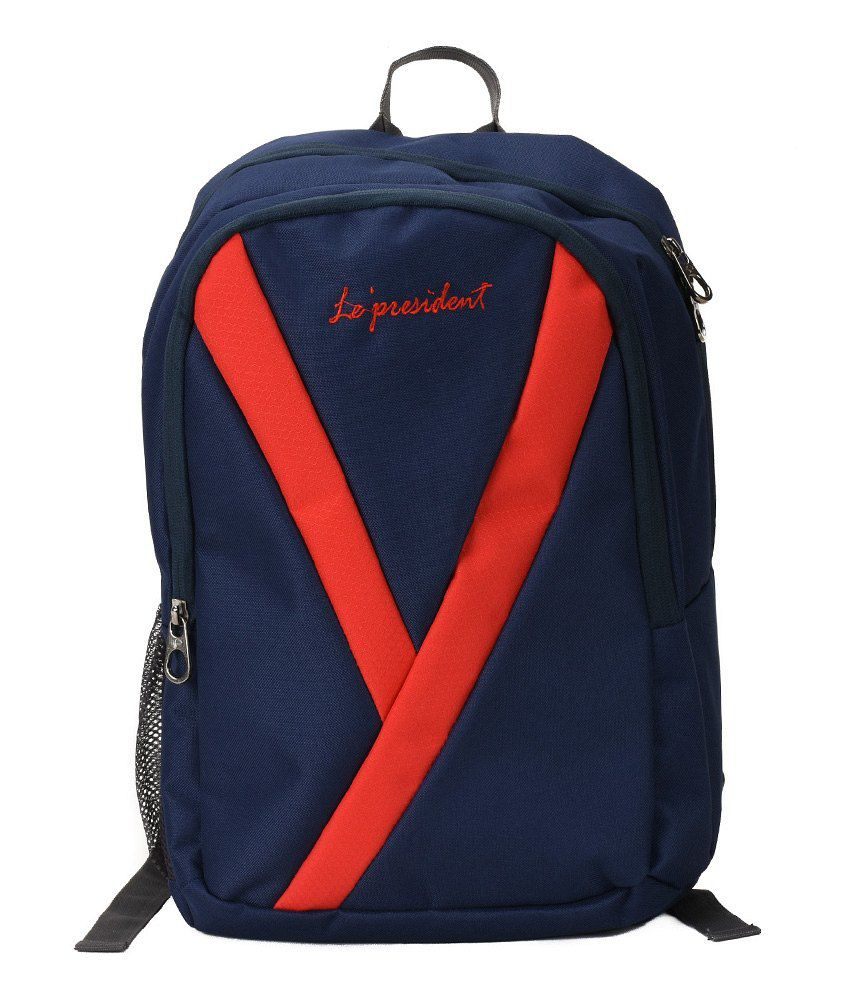 President Laptop-Y-Red-Blue Blue Laptop Bag