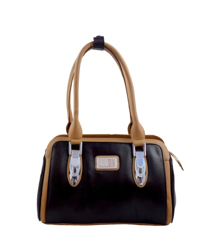 Second Skin Brown Leather Shoulder Bag