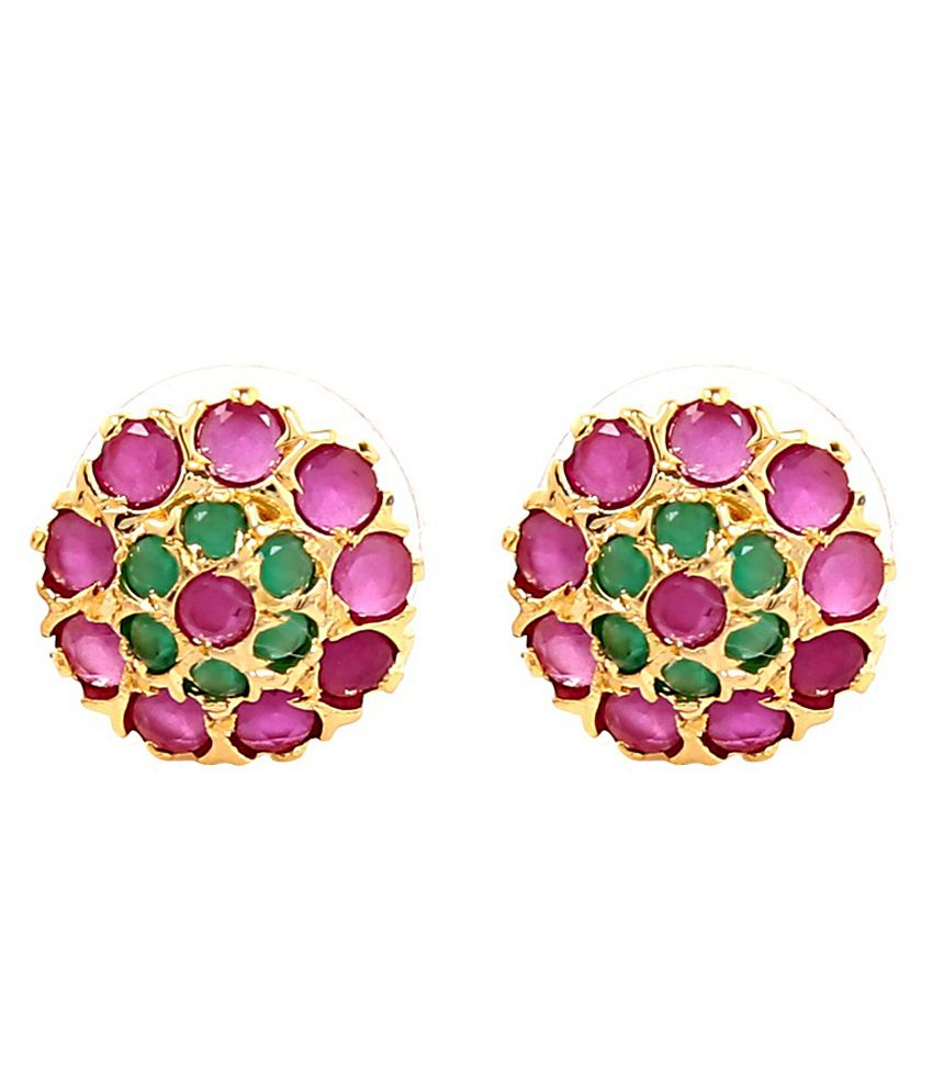 Bang Br Emerald And Ruby Ear Studs By Tsquare