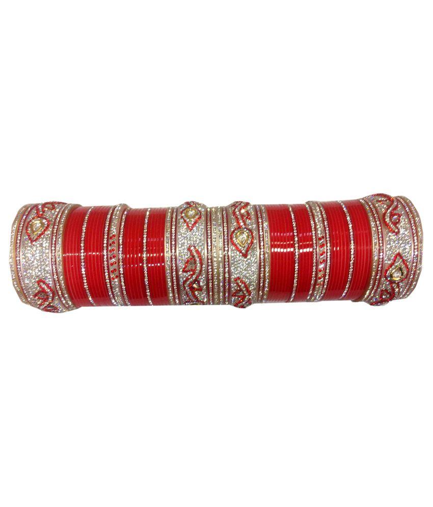 Shri Mahabir Bangle Red Indian Wedding Bangle Set