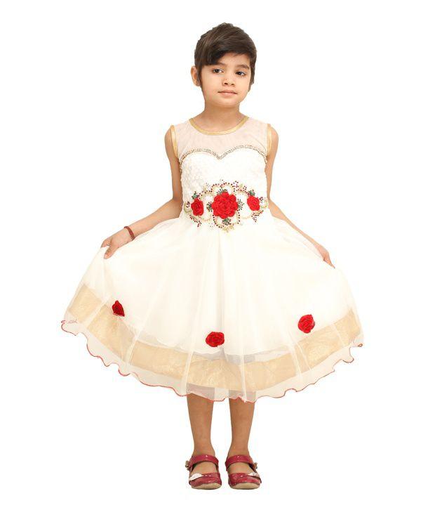 Tiny Toon White Dress For Girl - Buy Tiny Toon White Dress For ...
