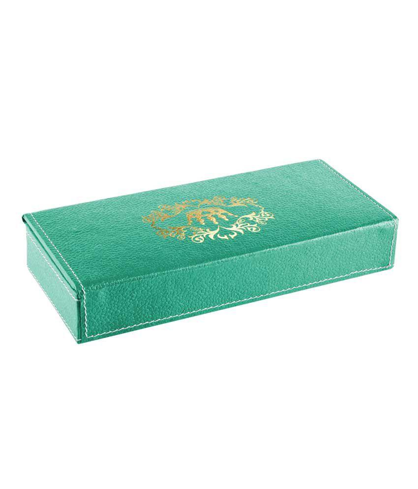 Ecoleatherette Green Designer Jeweller Vanity Box