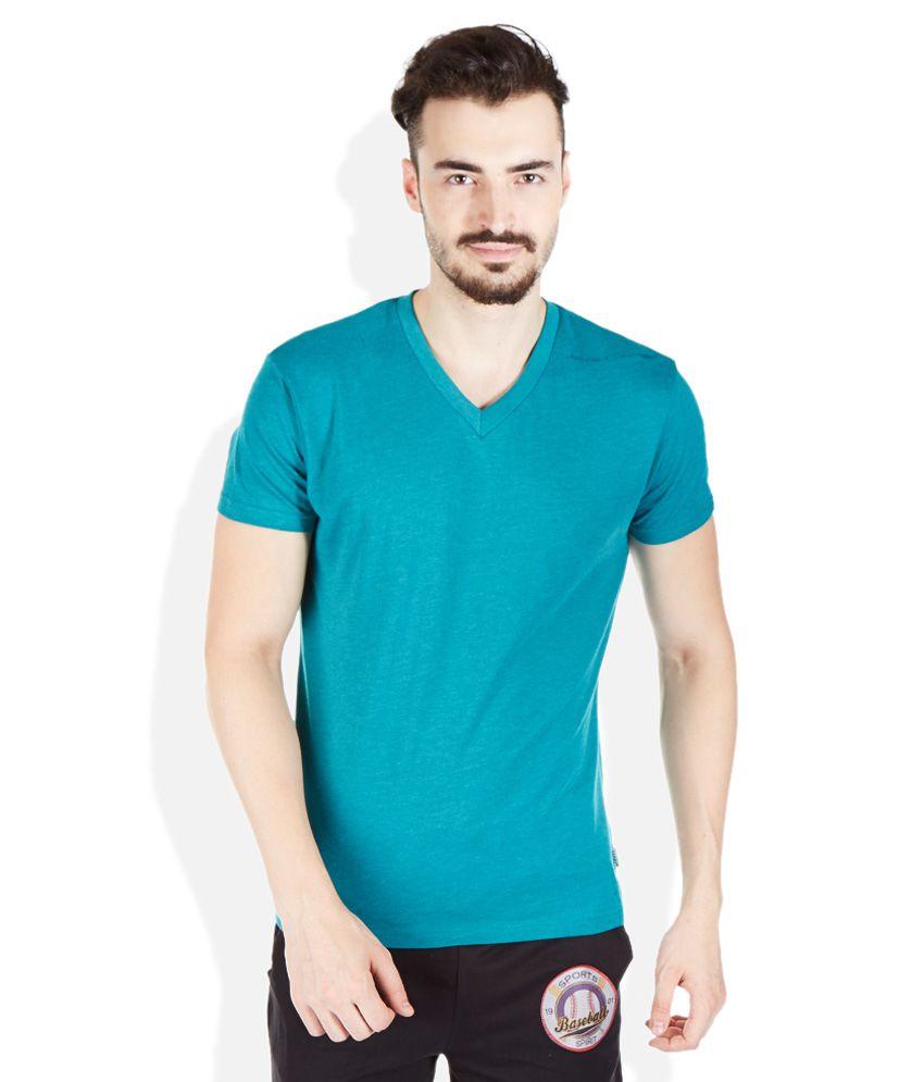 Hanes Turquoise V-Neck T Shirt