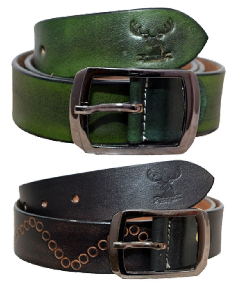 Indo Pelle Formal Reversible Belt For Men Set Of 2