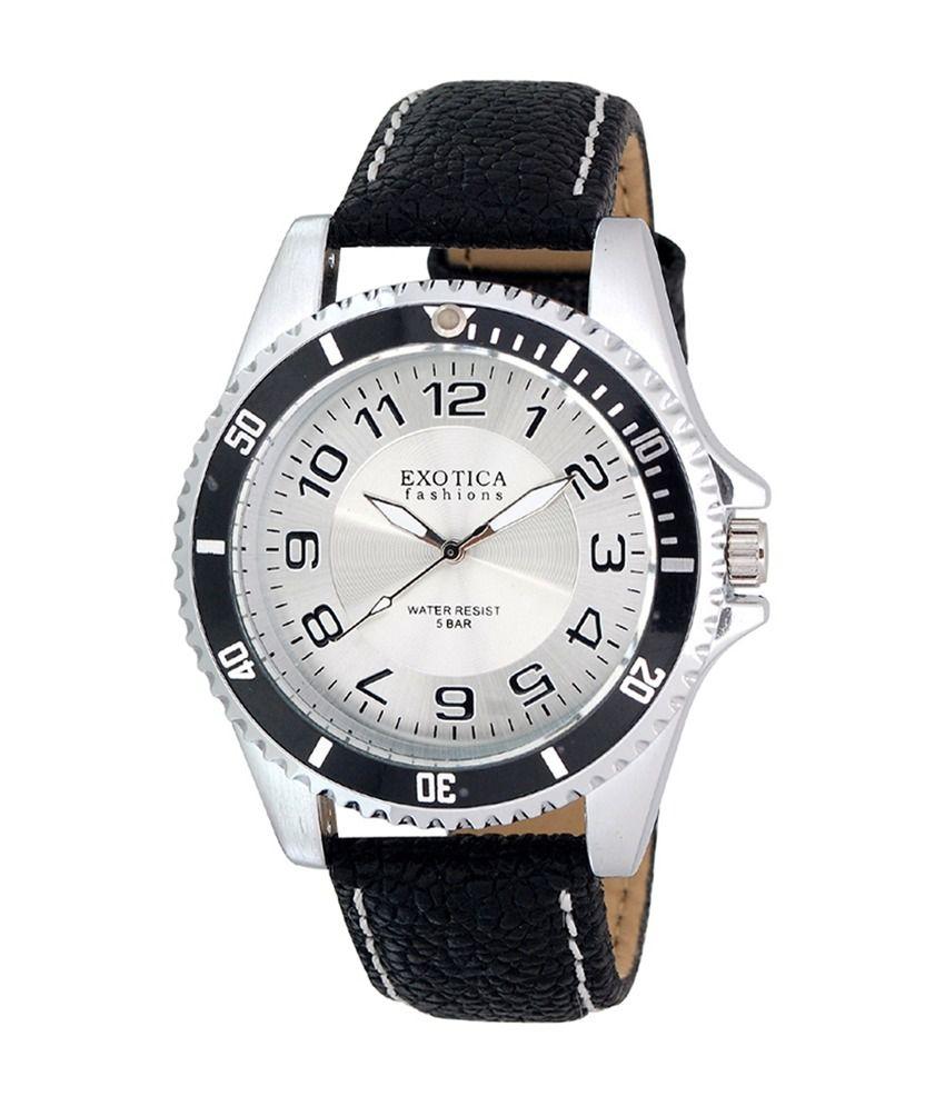 Exotica Fashions Analog Watch for Men  EFG 70 LS White