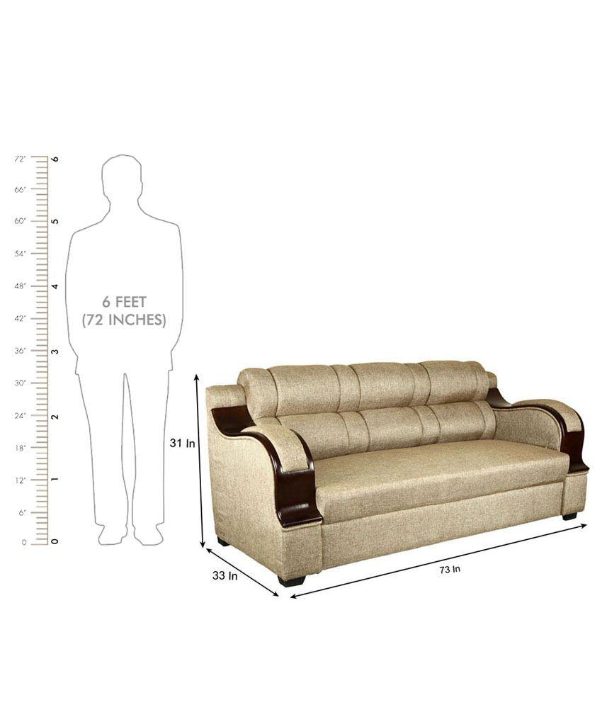 ... Panache Solid Wood 5 Seater Sofa Set (3+1+1)