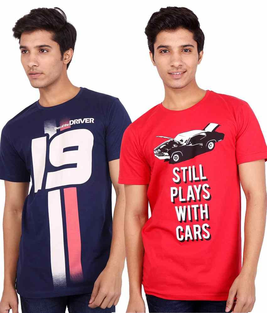 Den of the Driver Set of 2 Round Neck Men's T Shirt