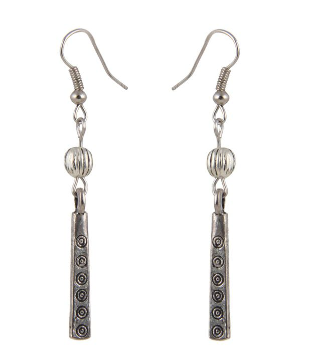 Jewelizer Silver Designer Alloy Earrings