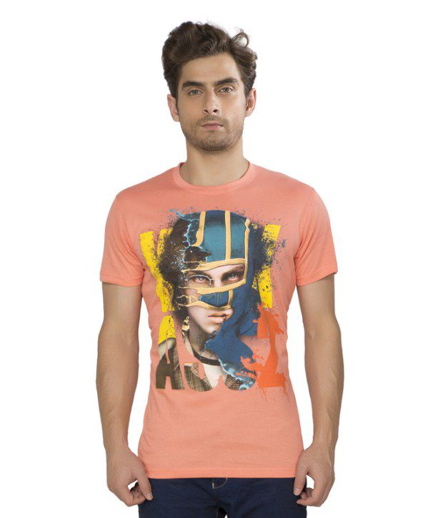Kkoir Coral Printed Round Neck T Shirt