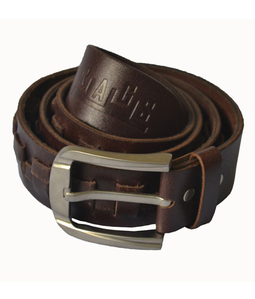 Rags Style Genuine Leather Stylish Casual Black Belt for Men