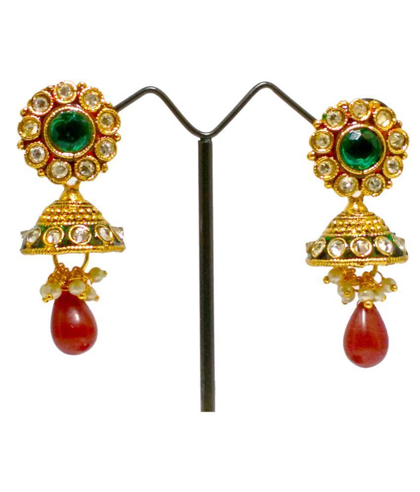 Zaraa Gold Plated Golden Earrings