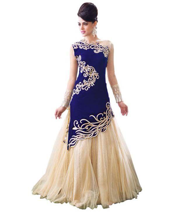 Designer Suit Net Gown - Buy Designer Suit Net Gown Online at Best ...
