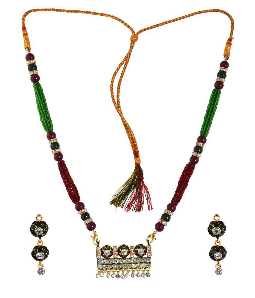 MS Multicolor Antique Necklace Set