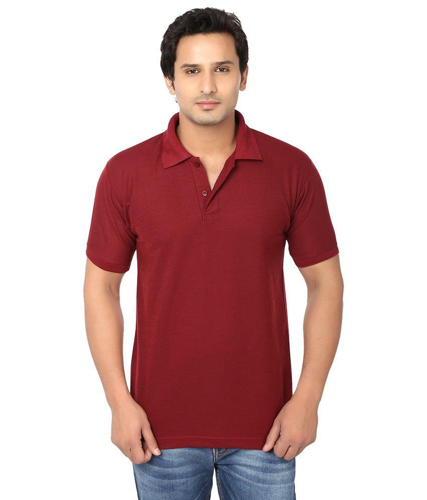 Awa maroon solid half sleeve t shirt for men buy awa for Half sleeve t shirts for men